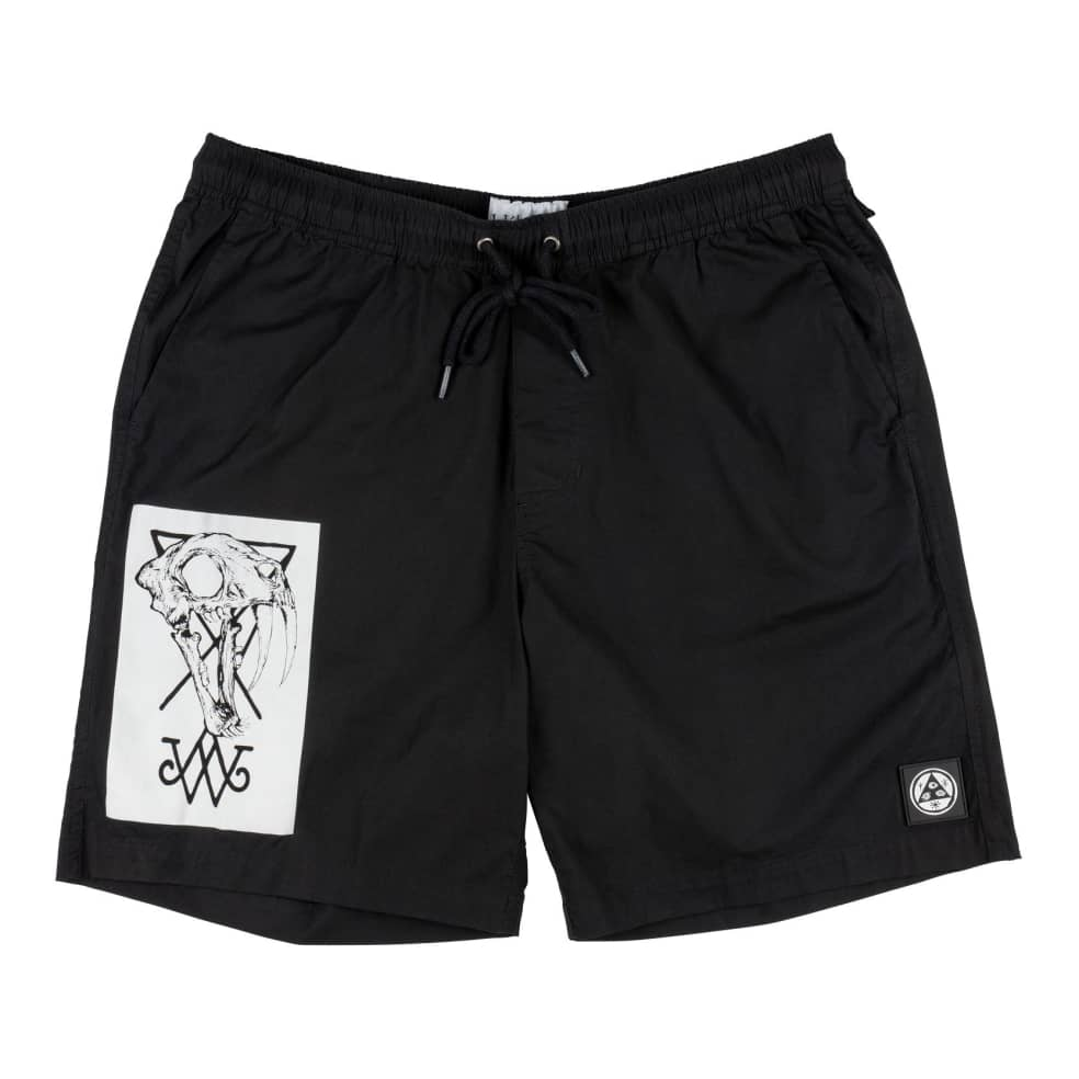 WELCOME Soft Core Elastic Shorts Black | Shorts by Welcome Skateboards 1