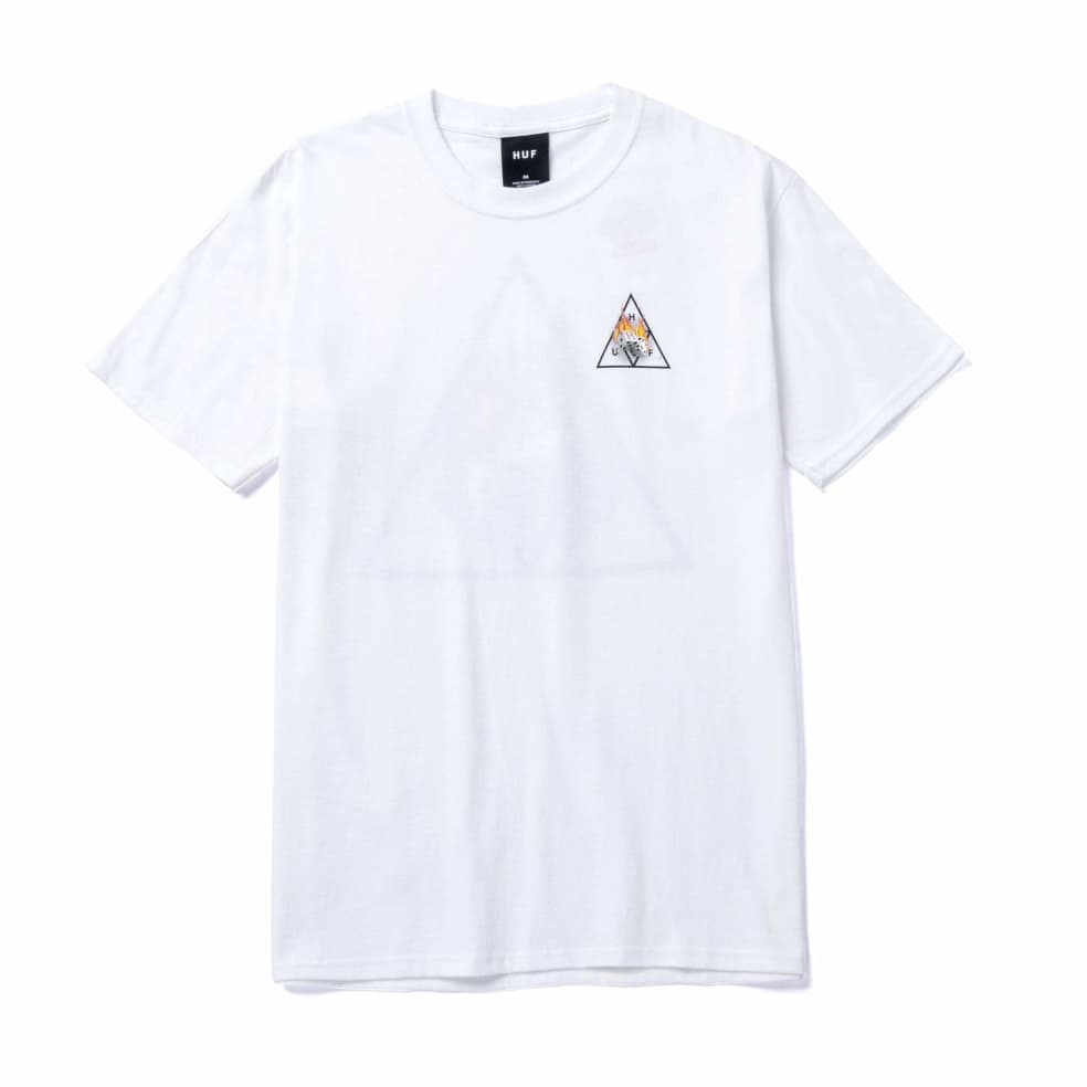 HUF Hot Dice Triple Triangle T-Shirt - White   T-Shirt by HUF 2
