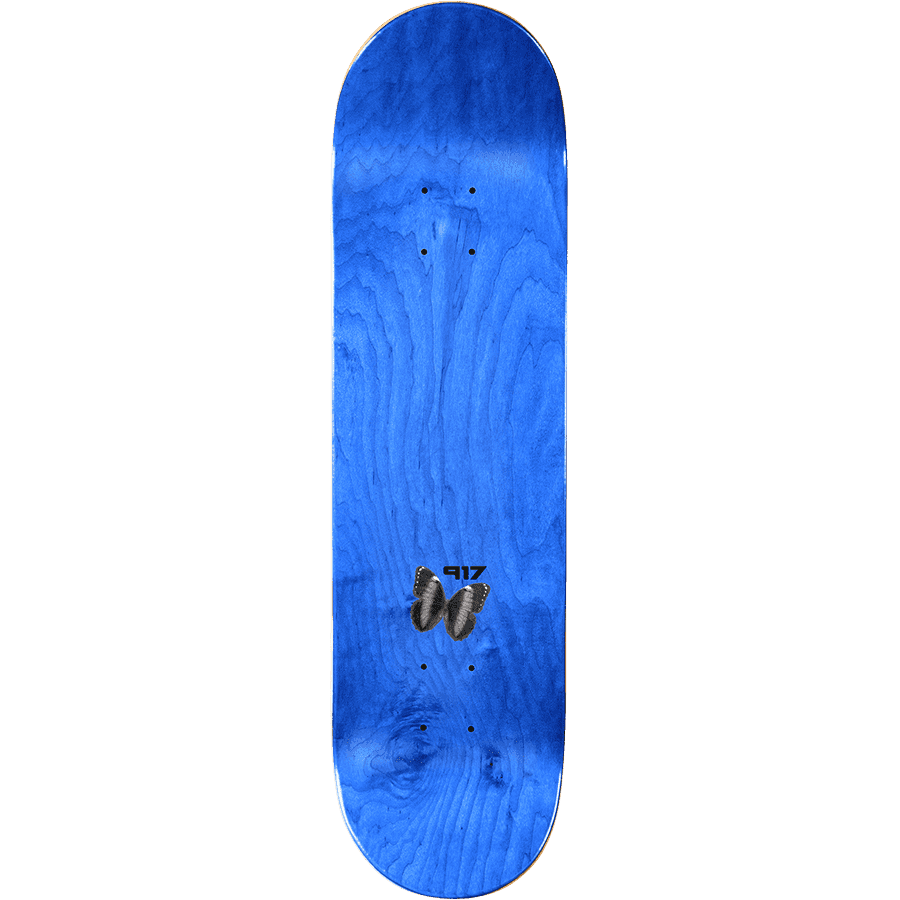 """Call Me 917 Butterfly Slick Skateboard Deck Gold - 8.5"""" 