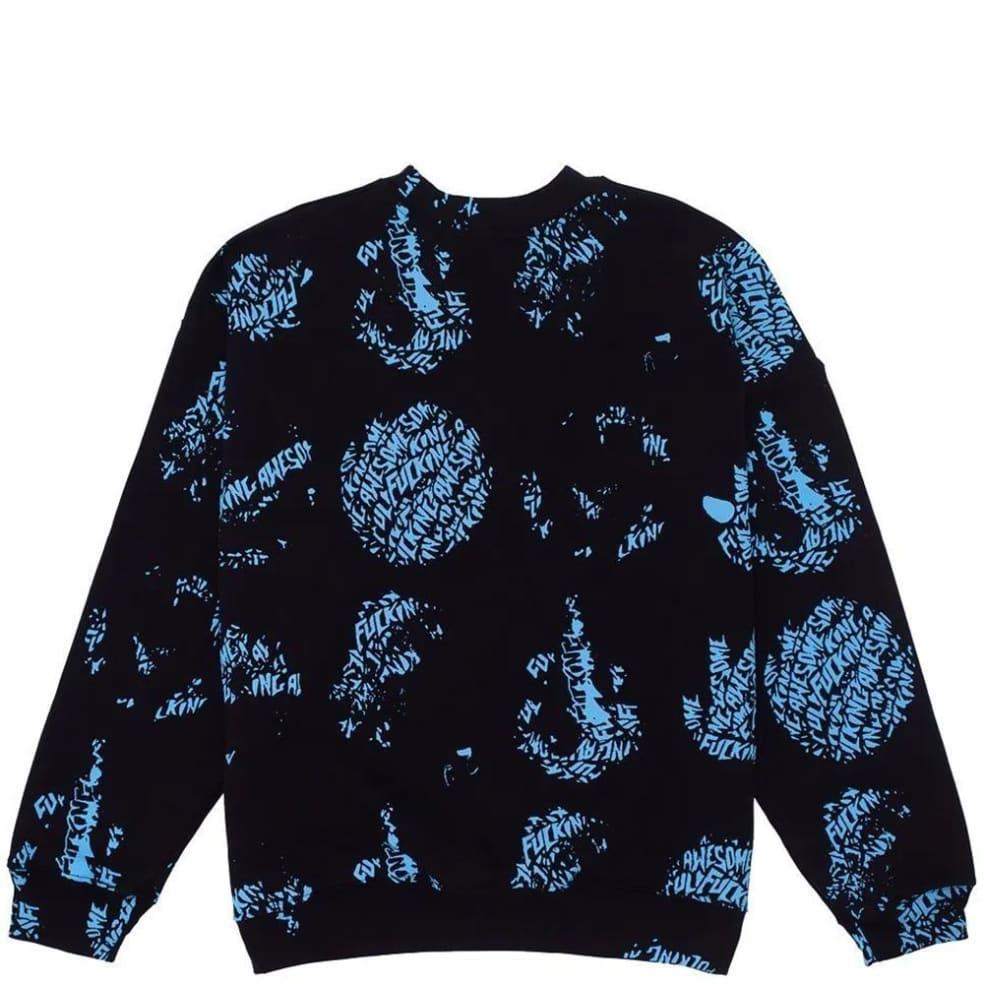 Fucking Awesome Spiral AOP Sweatshirt - Black | Sweatshirt by Fucking Awesome 1