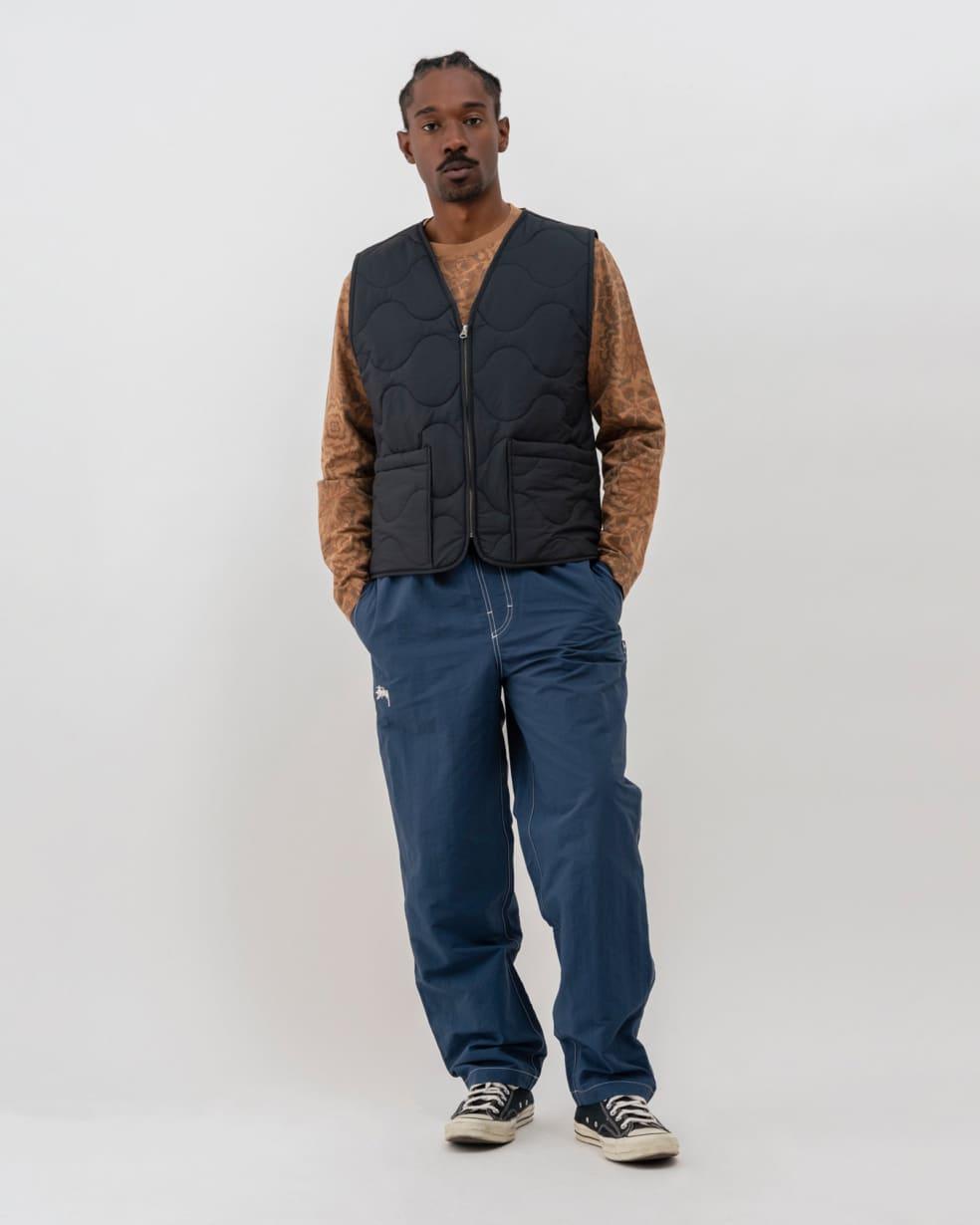 Stüssy Quilted Liner Vest - Black | Gilet by Stüssy 3