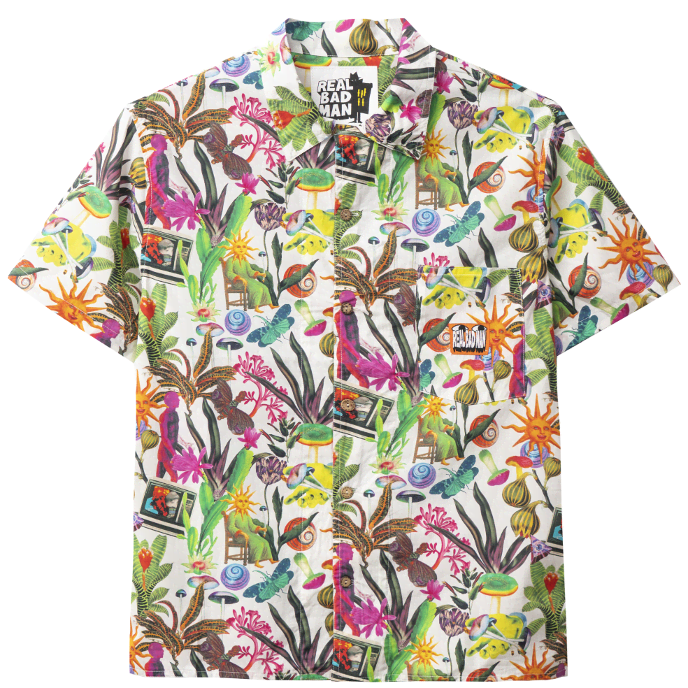 Real Bad Man Psychedelica Vacation Button Down Shirt - Bouquet / Multi   Shirt by Real Bad Man 1