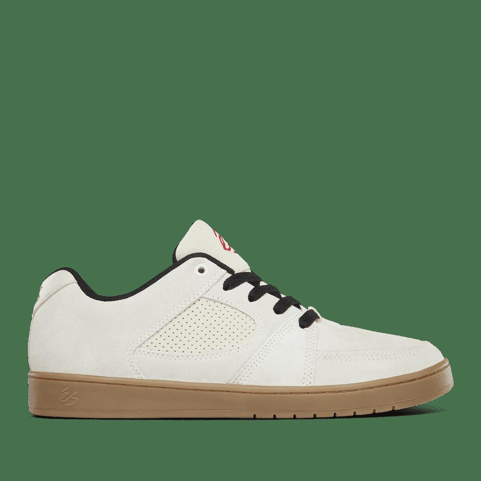 éS Accel Slim Skate Shoes - White / Gum / Black | Shoes by éS Shoes 1