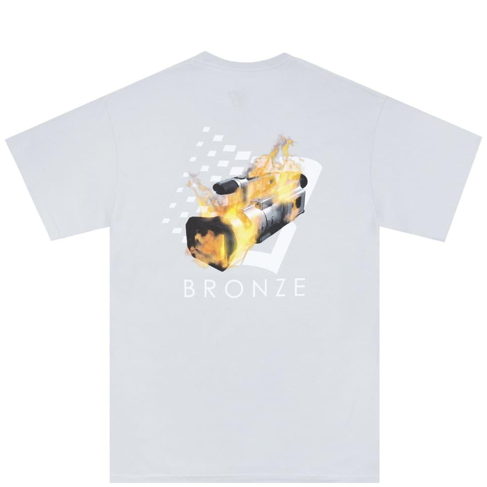 Bronze 56k VX B Logo T-Shirt - Silver   T-Shirt by Bronze 56k 1
