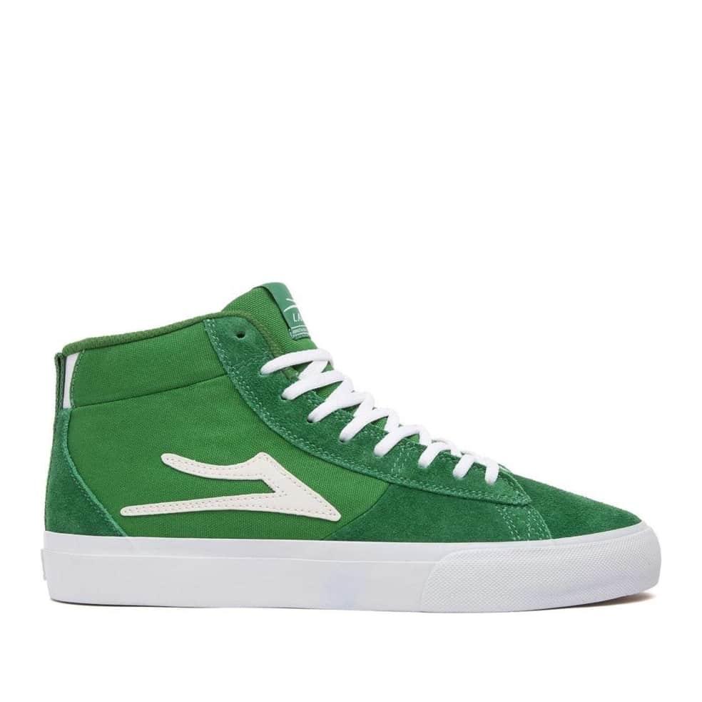 Lakai Newport Hi Suede Skate Shoes - Green Suede   Shoes by Lakai 1