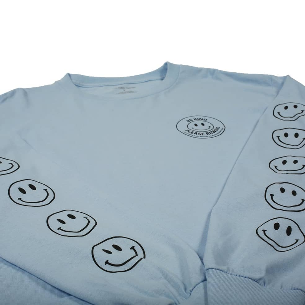 Picture Show Be Kind Long Sleeve Tee Powder Blue | Longsleeve by Picture Show Studios 3