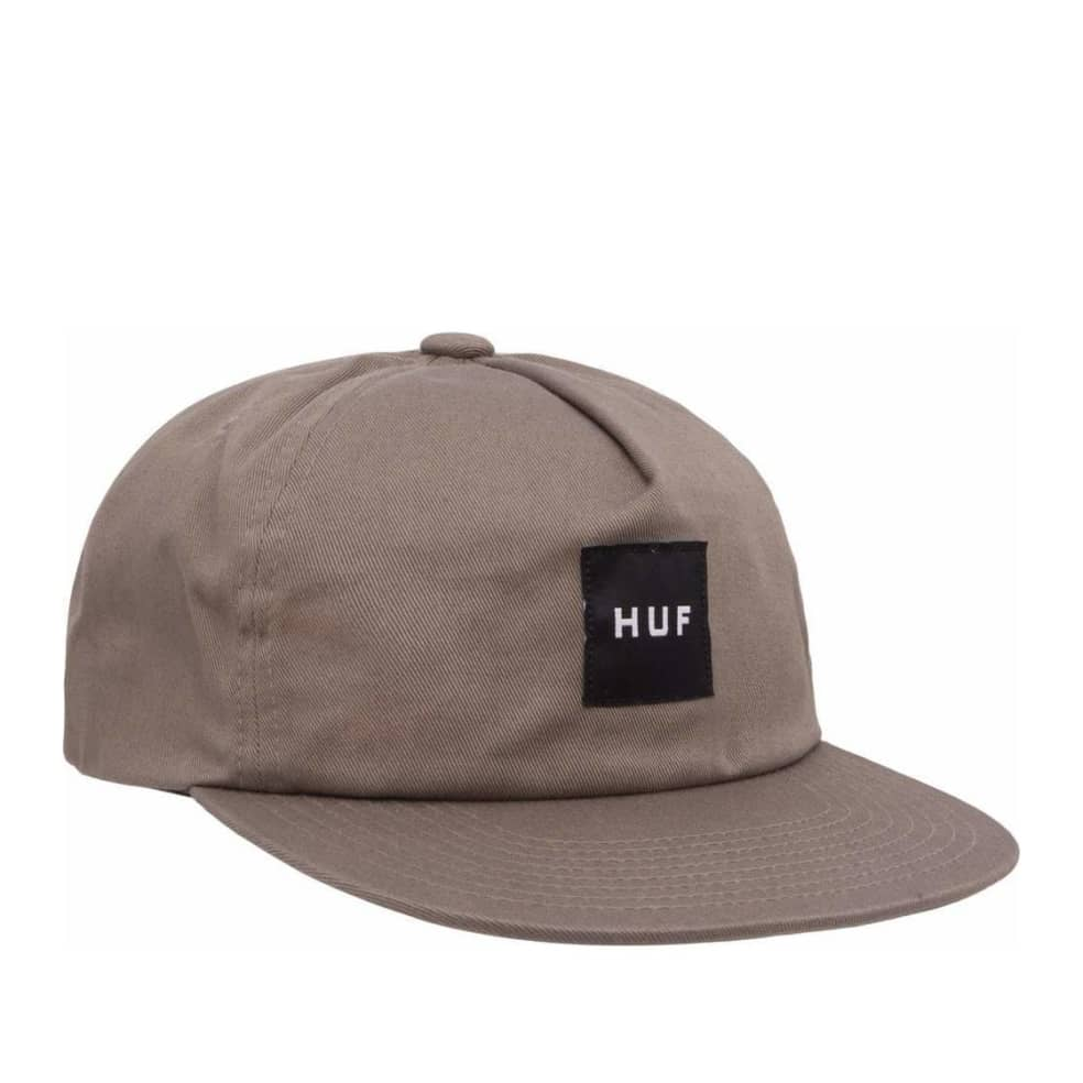 HUF Ess Unstructured Box Snapback - Brown | Snapback Cap by HUF 1