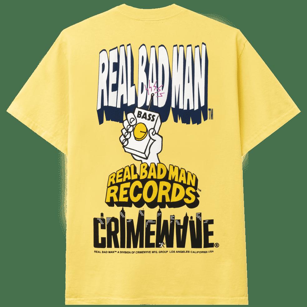 Real Bad Man The Big Three T-Shirt - Butter Yellow | T-Shirt by Real Bad Man 1