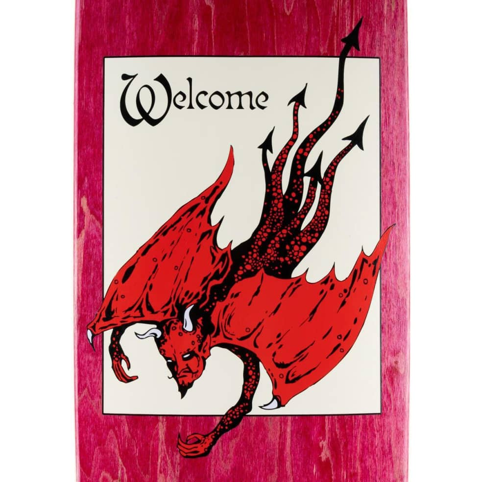 """Welcome Unholy Diver on Son of Golem Deck 8.75"""" (Dark Red) 