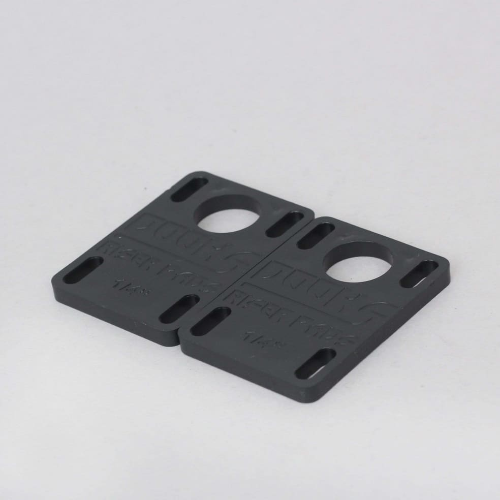 Shorty's Dooks 1/4 Riser Pads Black | Riser Pads by Shorty's 2