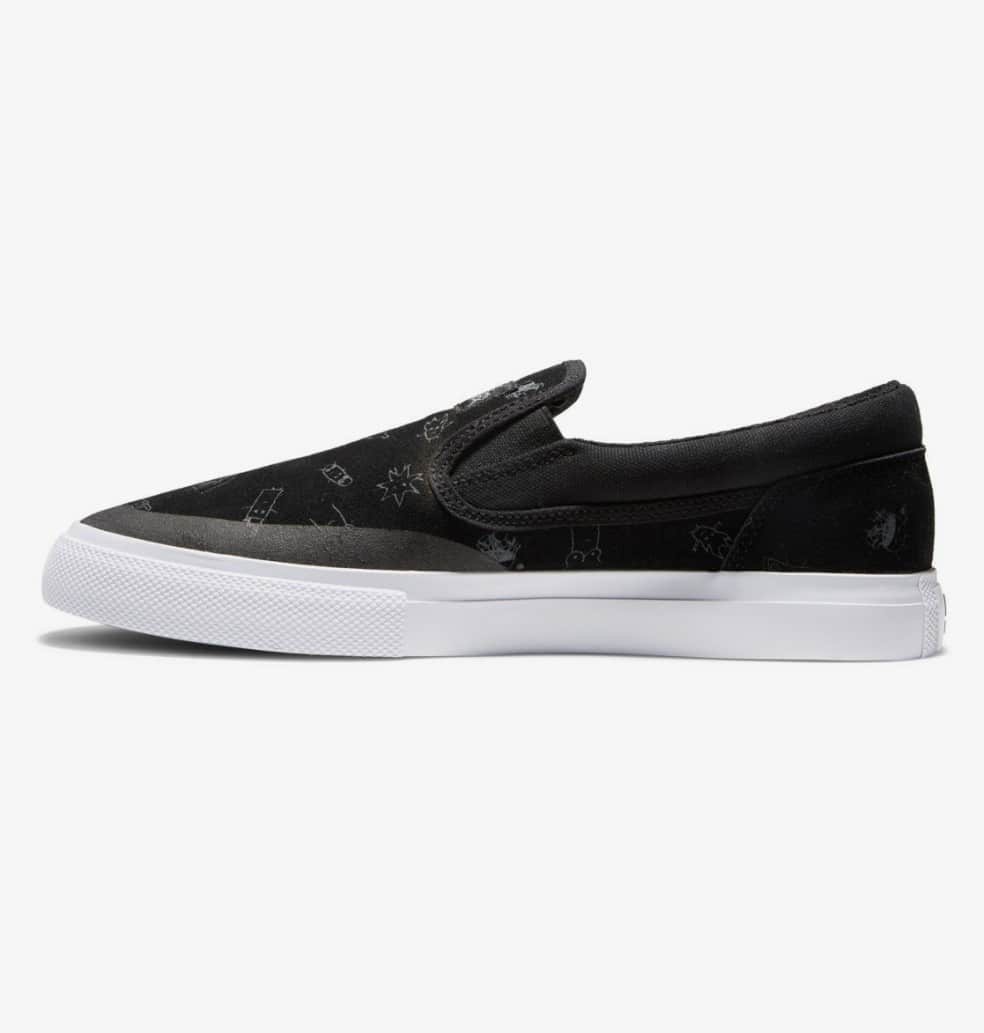 DC Wes Kremer Manual Good Times Slip-On Skate Shoes - Black | Shoes by DC Shoes 3