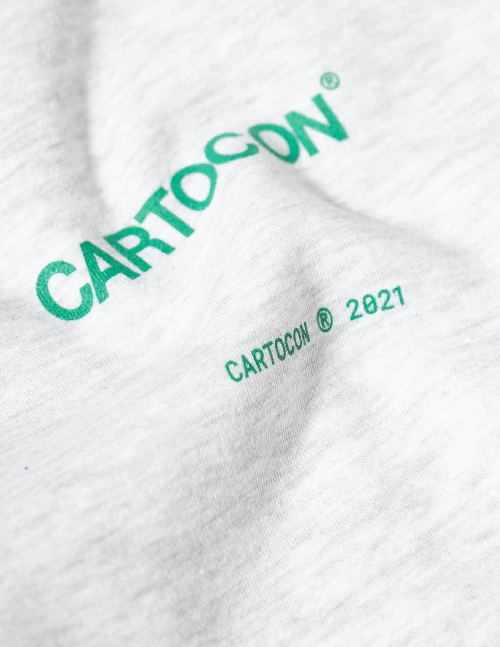 CARTOCON Logo Crew Neck Sweatshirt - Light Grey | Sweatshirt by Cartocon 3