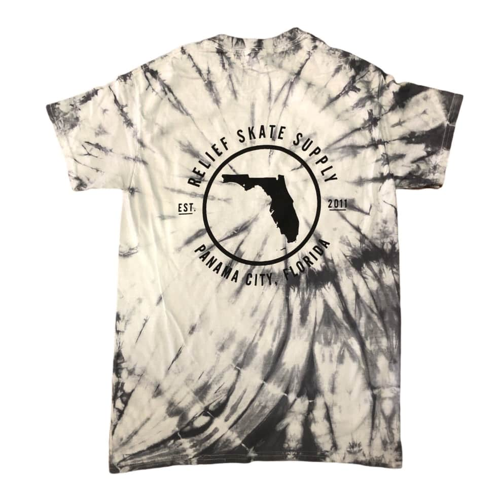 RELIEF FLORIDA PINWHEEL TIE DYE TEE GRAY   T-Shirt by Relief Skate Supply 2