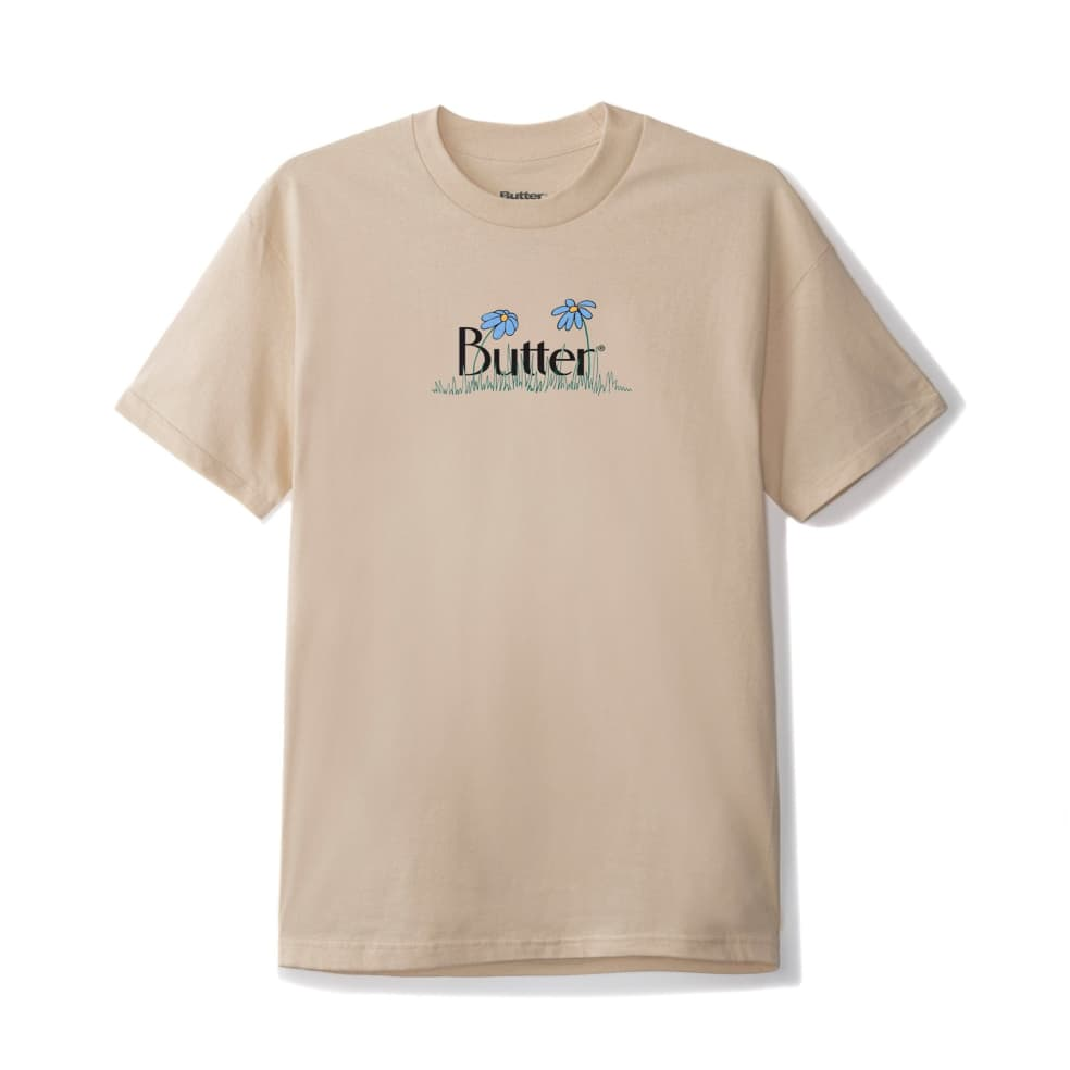 Butter Goods Flowers Classic Logo T-Shirt - Sand | T-Shirt by Butter Goods 1