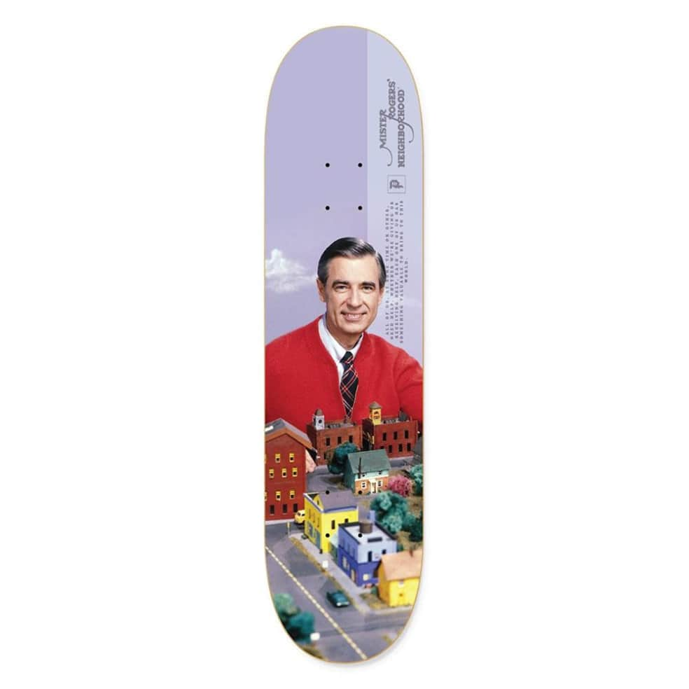 """Primitive Mister Rogers Neighborhood Skateboard Deck 8.25""""   Deck by Primitive Skateboards 1"""