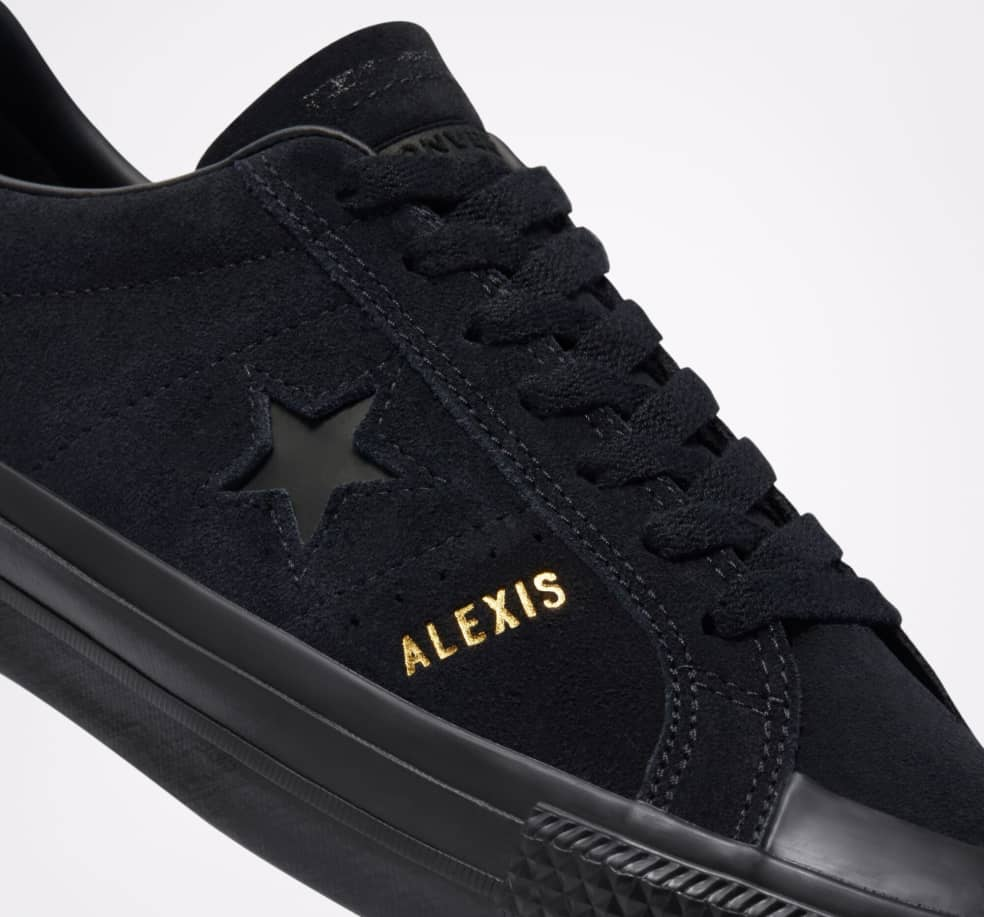 Converse CONS One Star Pro AS Low Top Shoes - Black / Black / Black   Shoes by Converse 3