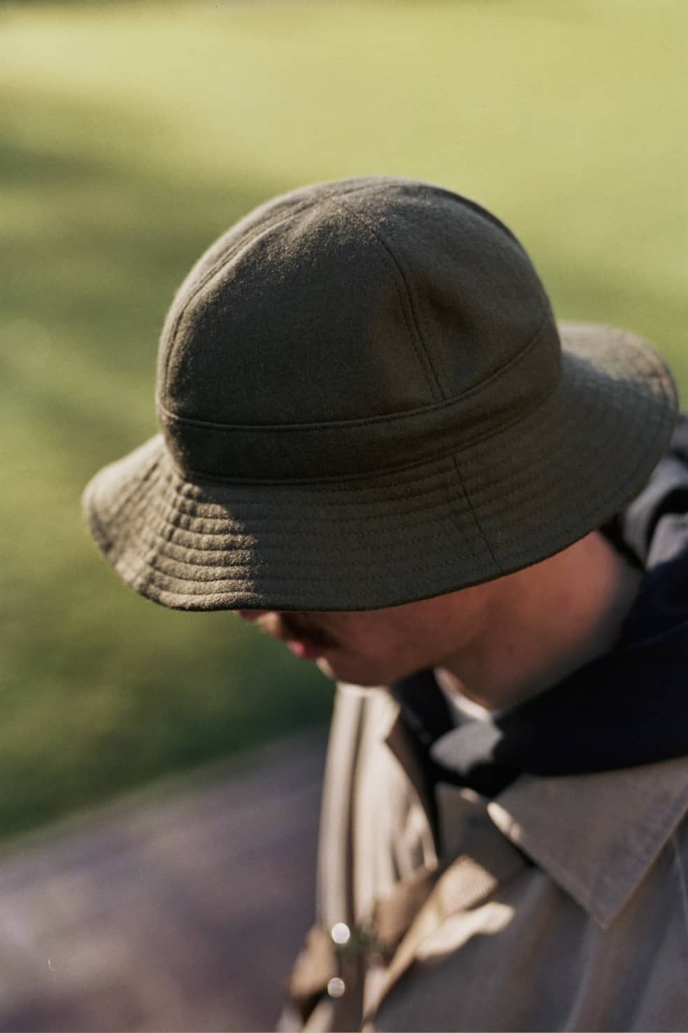 US Navy Hat British Melton Wool Olive | Hat by Found Feather 1