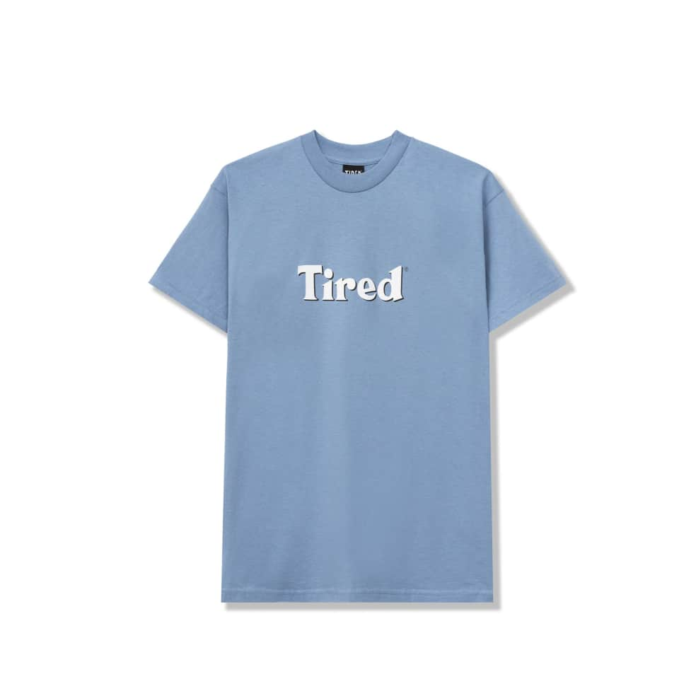 Tired Bloody Tired T-Shirt - Dusty Blue | T-Shirt by Tired Skateboards 2