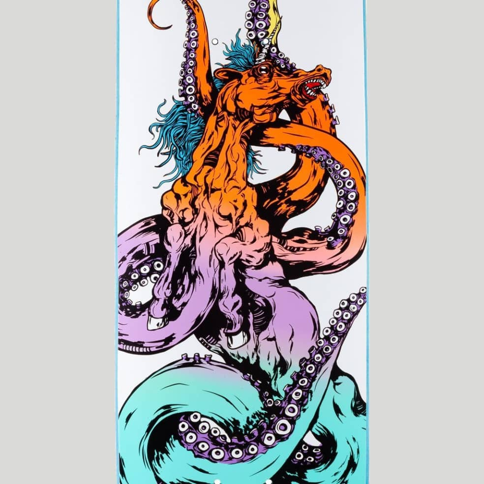 """Welcome Skateboards Seahorse 2 on Amulet Skateboard Deck 8.125""""   Deck by Welcome Skateboards 3"""
