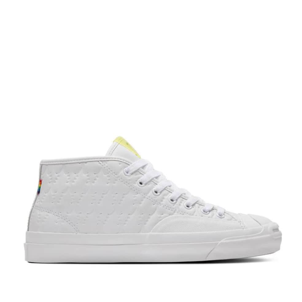 Converse CONS Jack Purcell Pro Mid Alexis Sablone Pride Shoes - White / Chambray Blue / White   Shoes by Converse Cons 1