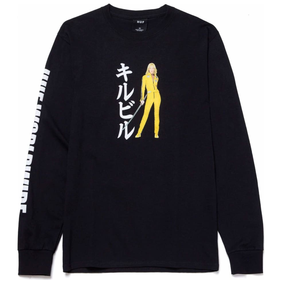 HUF x Kill Bill Black Mamba T-Shirt - Black | Longsleeve by HUF 1
