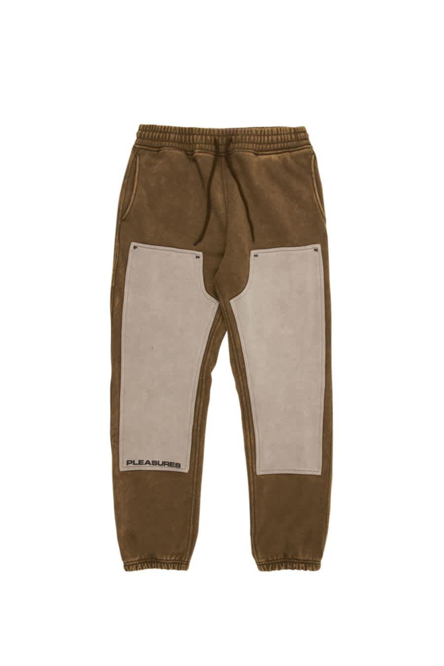 Olive Burnout Dyed Sweatpants | Sweatpants by Pleasures 1