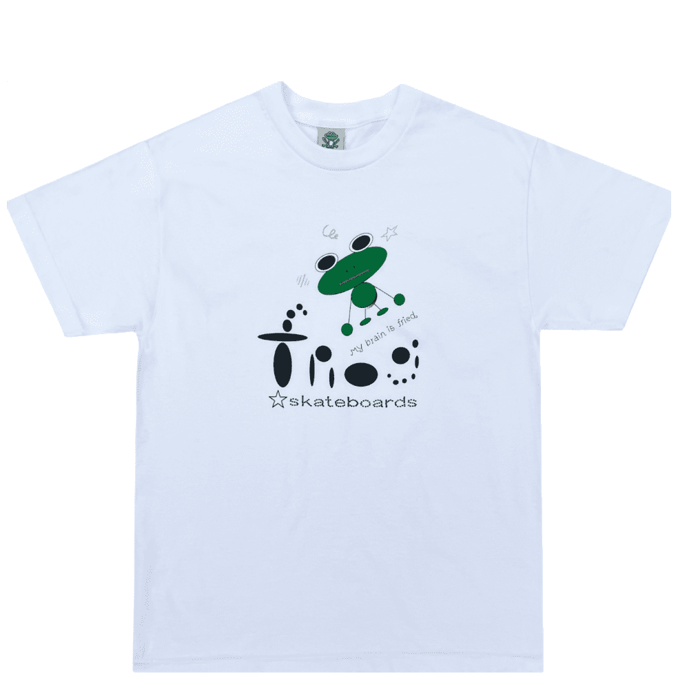Frog My Brain Is Fried T-Shirt - White | T-Shirt by Frog Skateboards 1