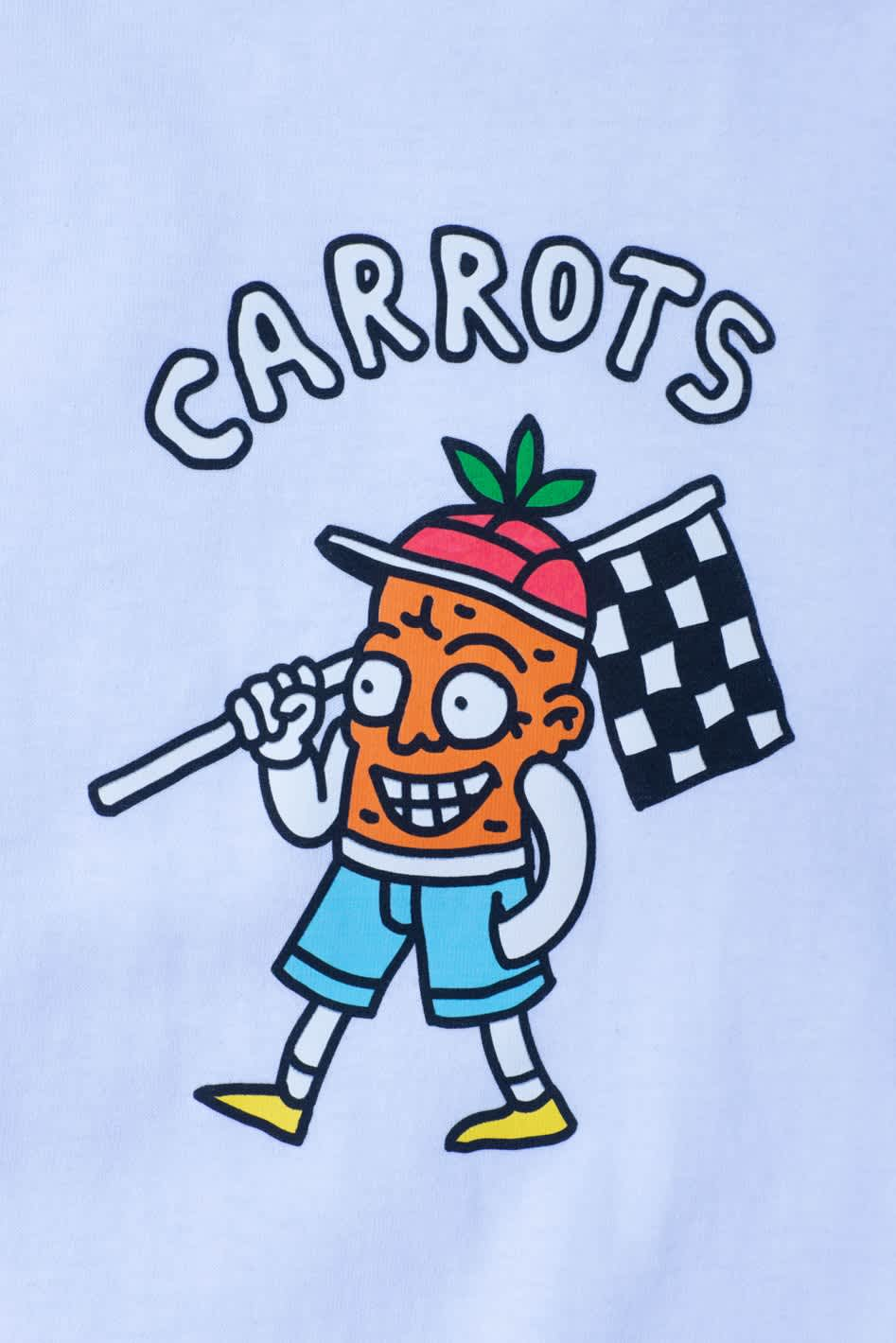 Carrots Finish Line T-Shirt - White | T-Shirt by Carrots by Anwar 2