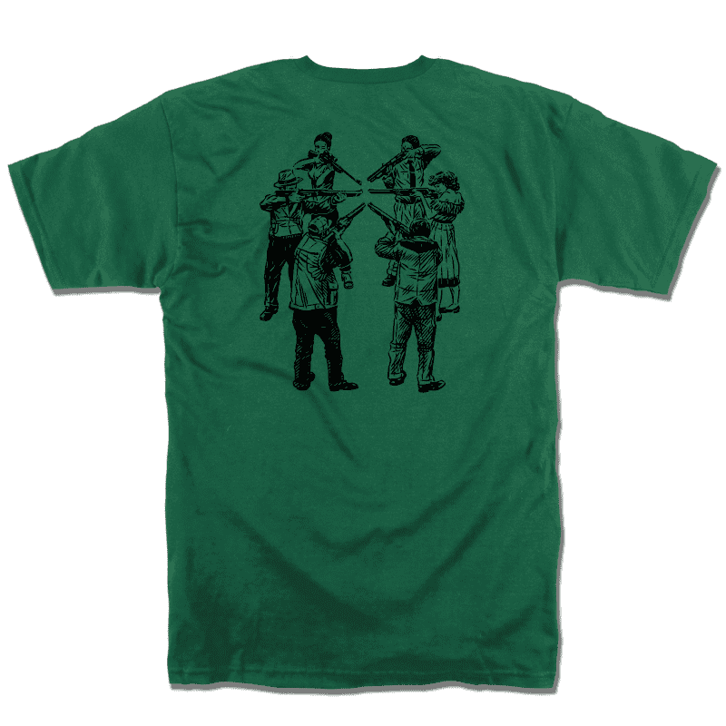 Slave Only Human Circle of Death T-Shirt (Forest Green) | T-Shirt by Slave Skateboards 1