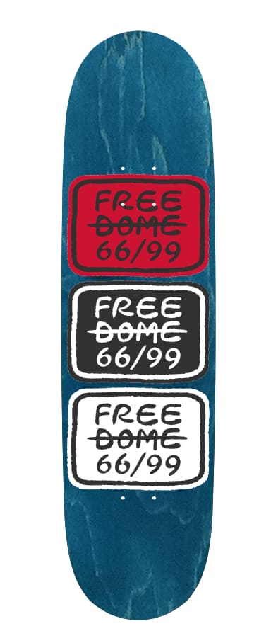 Stacked Logo Deck 8.0   Deck by Free Dome Skateboards 3