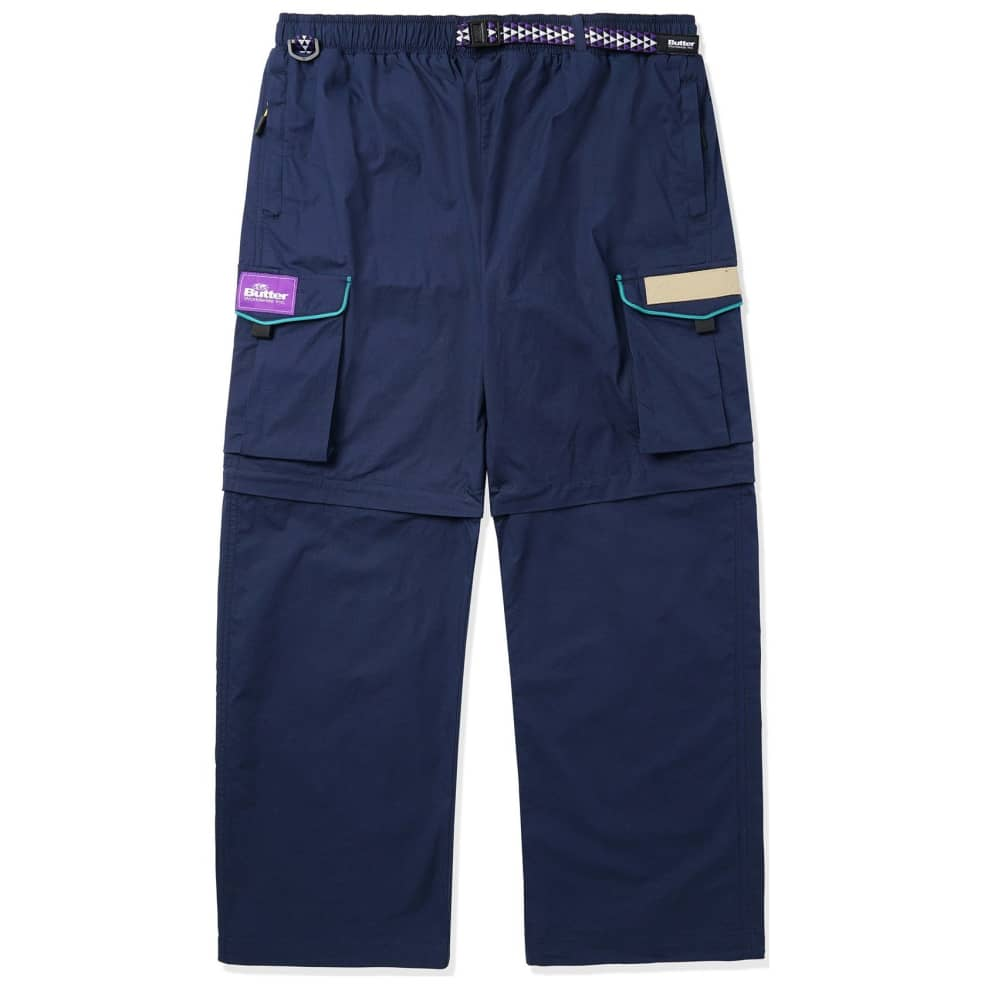 Butter Goods Foley Cargo Pants - Navy   Trousers by Butter Goods 1