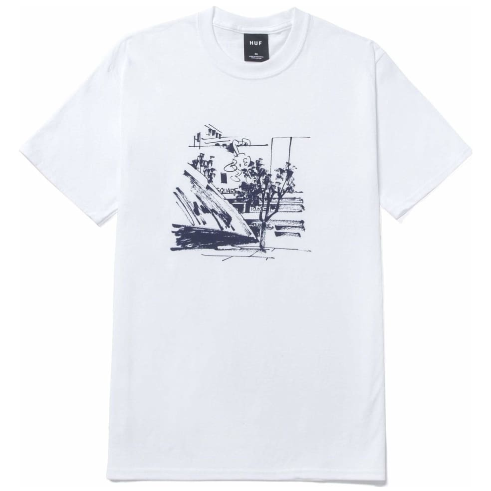 HUF James Jarvis Up T-Shirt - White | T-Shirt by HUF 1
