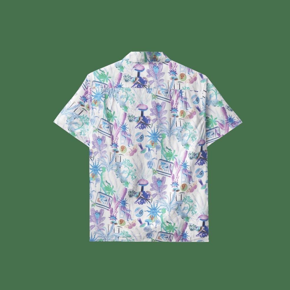 Real Bad Man Psychedelica Vacation Button Down Shirt - Green / Purple   Shirt by Real Bad Man 2