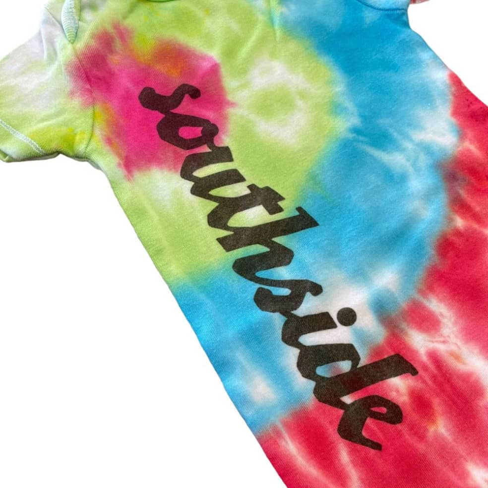 Southside Onesee Vertical Tye Dye 12 Month   T-Shirt by SouthSide Skate Shop 2