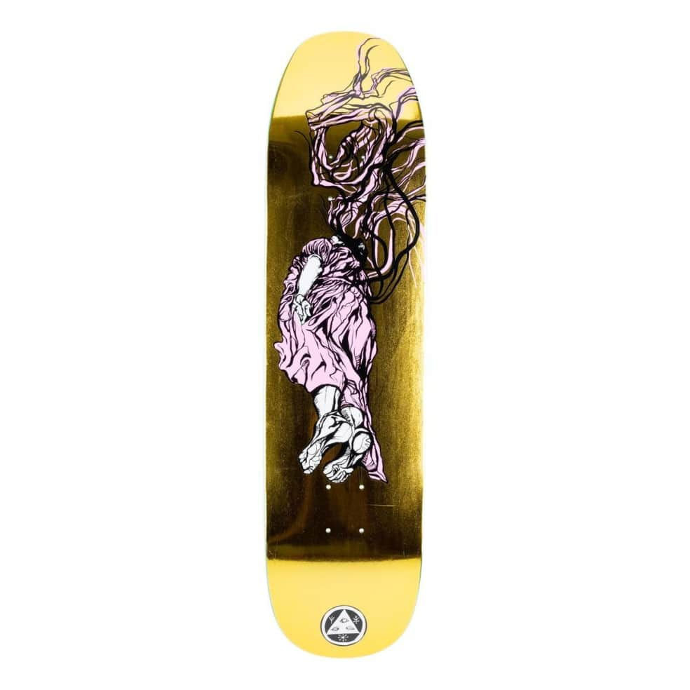 """Welcome Transcend on Son of Moontrimmer Deck 8.21"""" (Gold Foil)   Deck by Welcome Skateboards 1"""