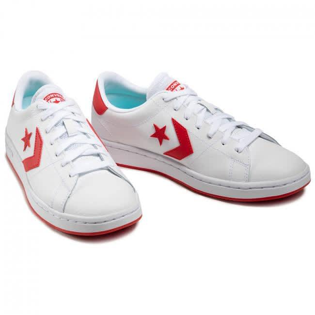 Converse All-Court Ox - White / University Red | Shoes by Converse Cons 3