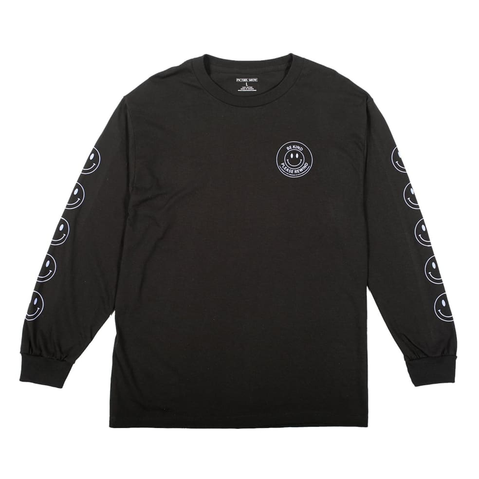 Picture Show Be Kind Long Sleeve Tee Black | Longsleeve by Picture Show Studios 1