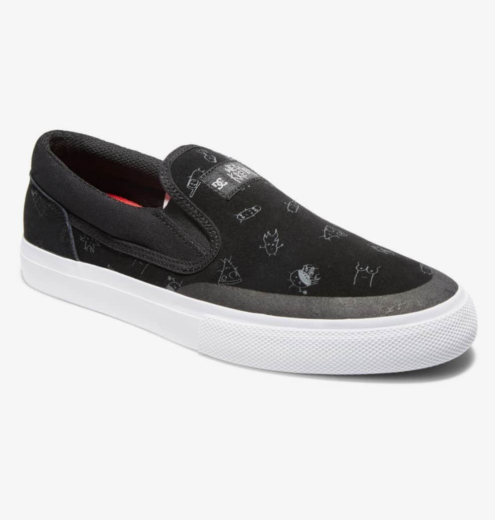 DC Wes Kremer Manual Good Times Slip-On Skate Shoes - Black | Shoes by DC Shoes 2