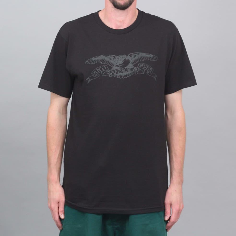 Anti Hero Basic Eagle T-Shirt Black / Black   T-Shirt by Antihero Skateboards 1