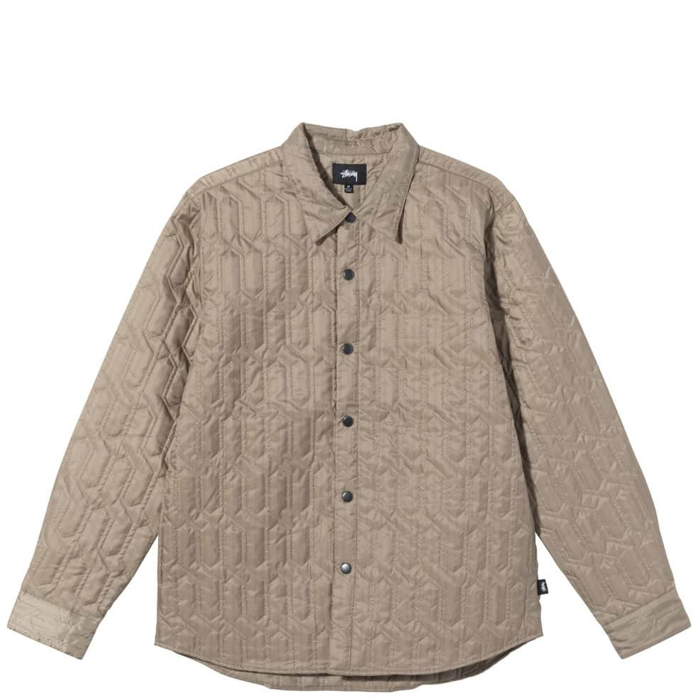 Stüssy Quilted Insulated Long Sleeve Shirt - Beige | Shirt by Stüssy 1