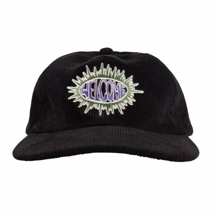 Welcome Burst Cord Cap - Black | Baseball Cap by Welcome Skateboards 2