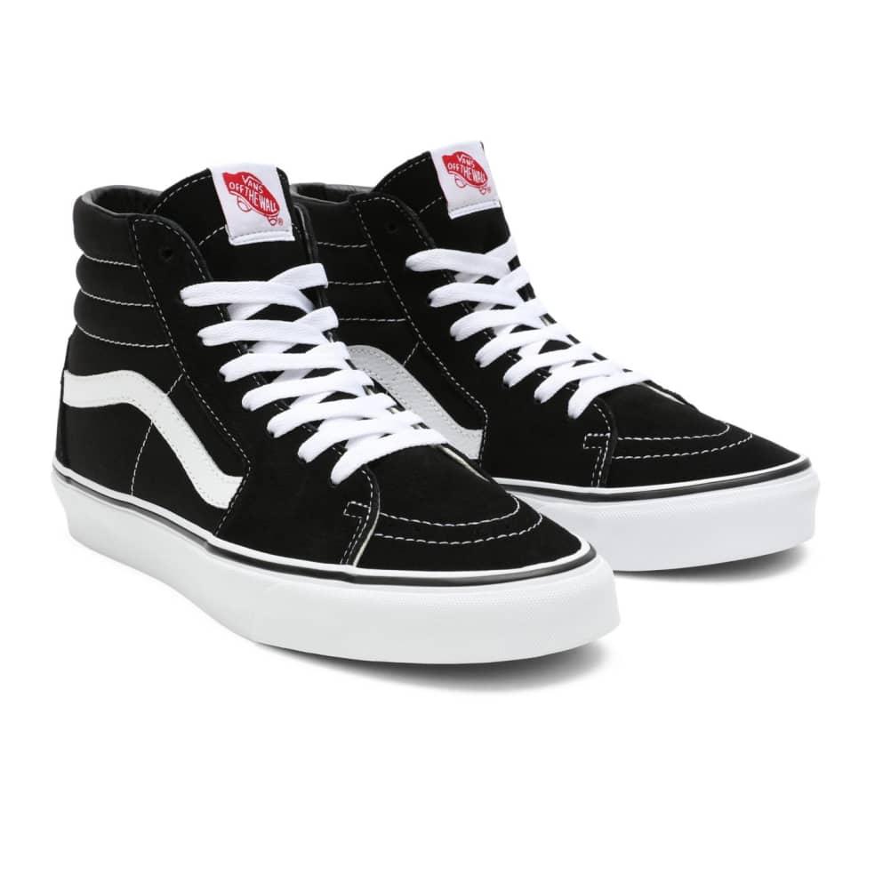 Vans Sk8-Hi Shoes - Black / Black / White   Shoes by Vans 3