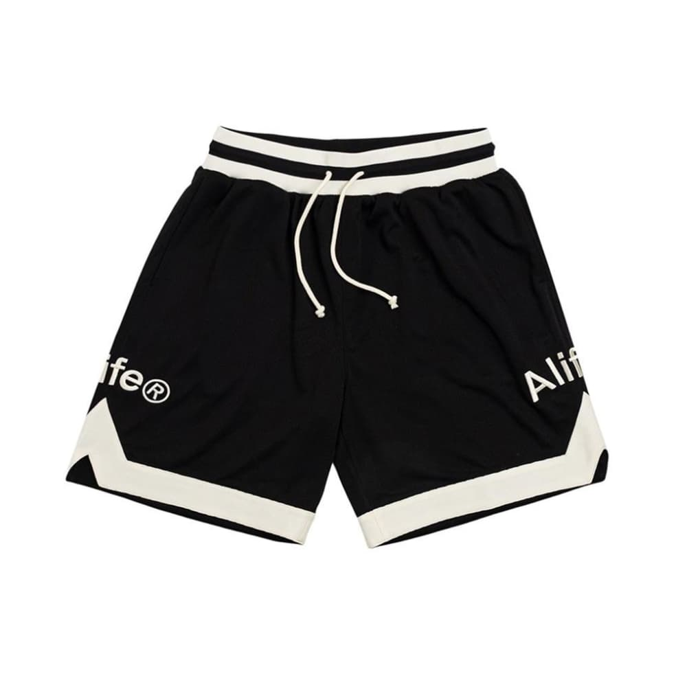Alife - Basketball Shorts - Black / Cream   Shorts by Alife 1