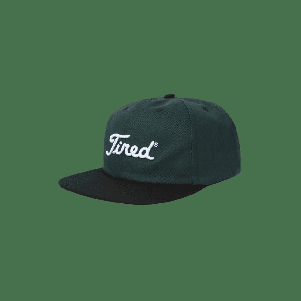 Tired Golf Logo Cap - Green / Black | Snapback Cap by Tired Skateboards 2