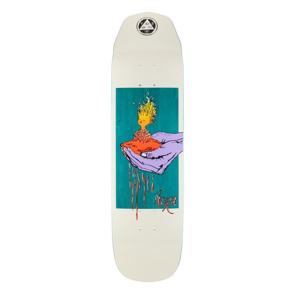 Nora Vasconcello Soil on Wicked Princess - Bone/Teal Stain - 8.125 | Deck by Welcome Skateboards 1