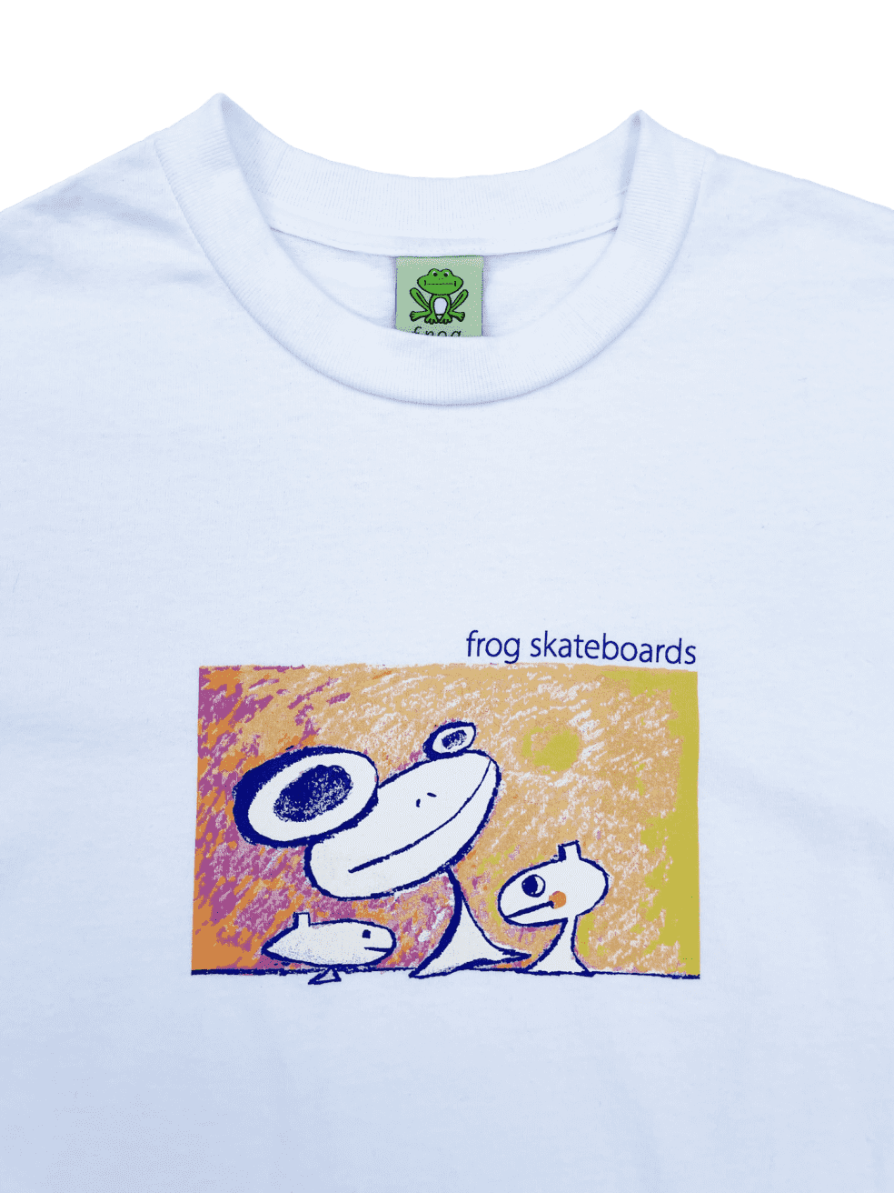 Frog Floating Again T-Shirt - White | Shirt by Frog Skateboards 2