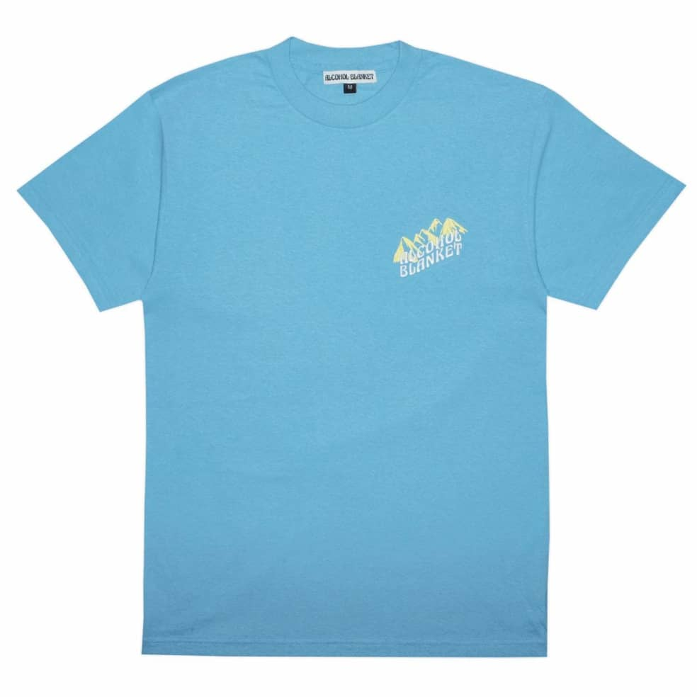 Alcohol Blanket Mountain T-Shirt - Blue | T-Shirt by Alcohol Blanket 1