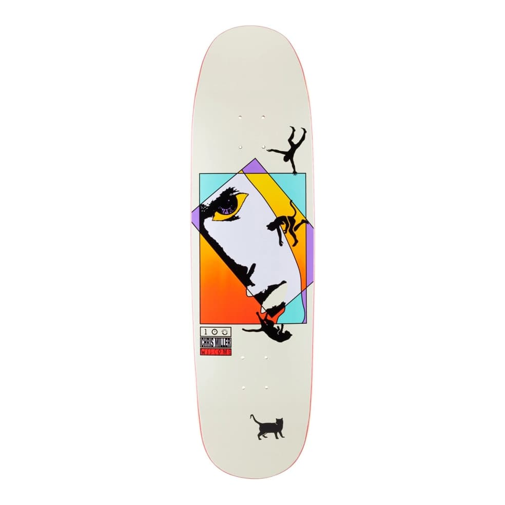 """Welcome Chris Miller Faces on Catblood 2.0 Deck 8.75""""   Deck by Welcome Skateboards 1"""