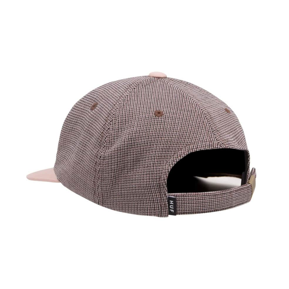 HUF Micro Houndstooth 6 Panel Hat - Dusty Rose | Baseball Cap by HUF 2