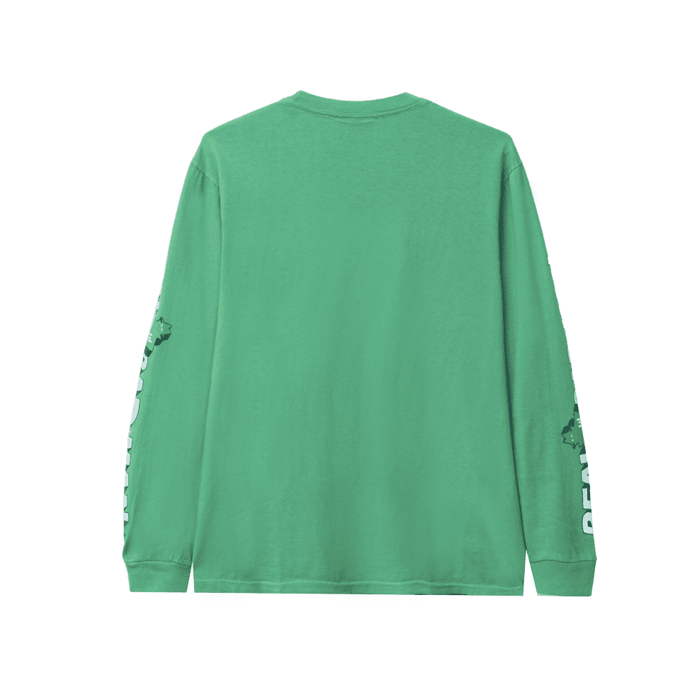 Real Bad Man Graphic Content Long Sleeve T-Shirt - Funk Green | Longsleeve by Real Bad Man 2